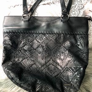 Sak Roots Black Shoulder Bag